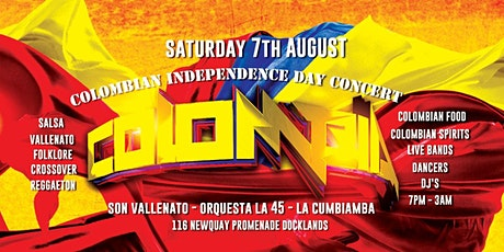 COLOMBIAN INDEPENDENCE DAY FIESTA - SUPER CONCIERTO DE INDEPENDENCIA tickets
