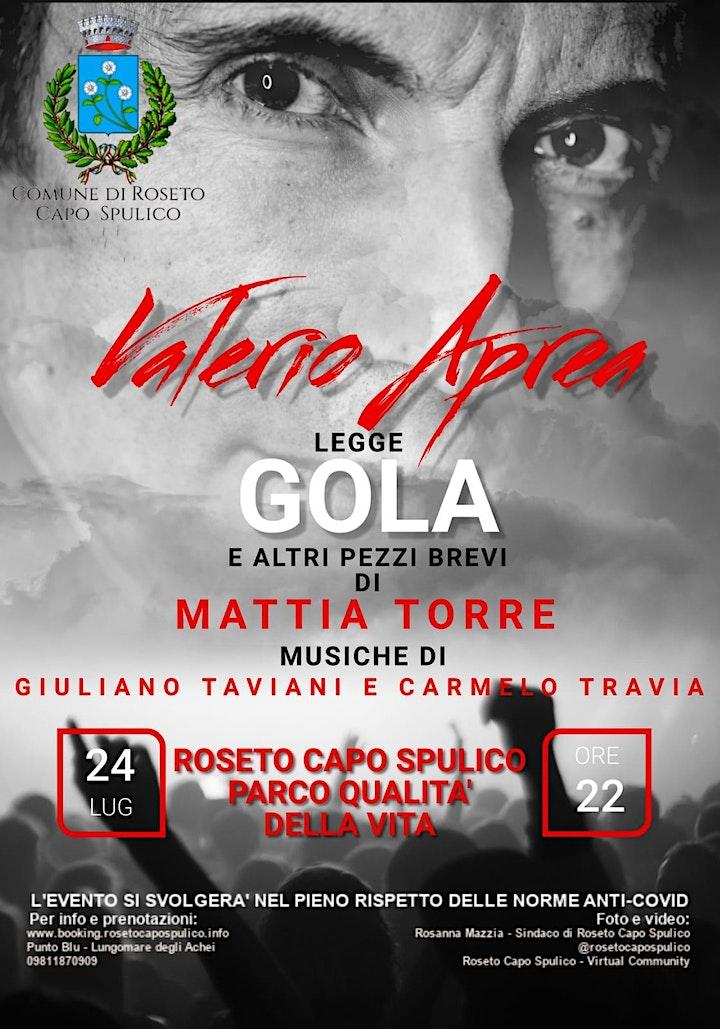 Immagine Valerio Aprea legge GOLA e altri pezzi brevi di Mattia Torre