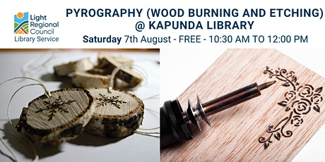 Pyrography for Beginners @ Kapunda Library tickets