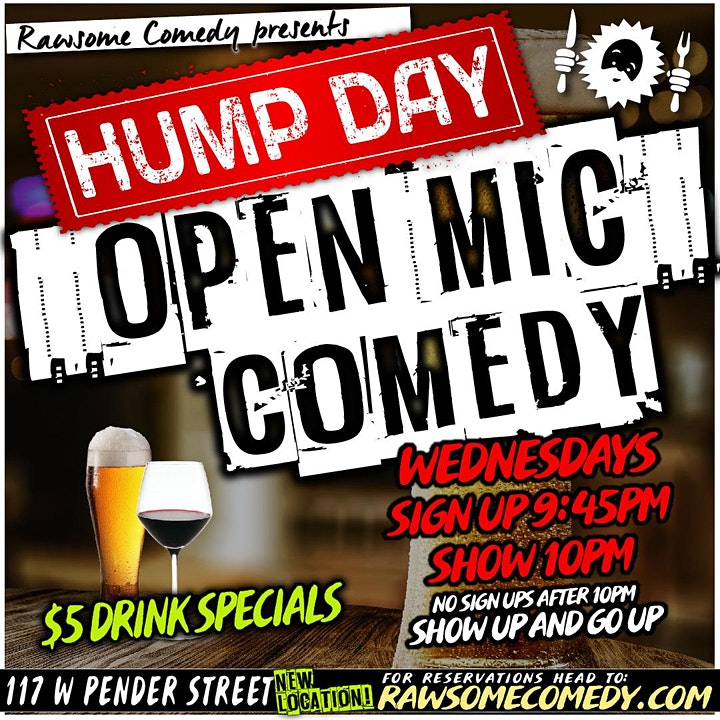 Hump Day Open Mic - Live Stand up Comedy image