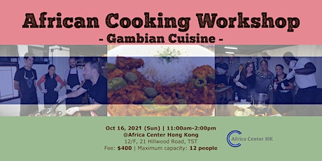 African Cooking Workshop -Gambian Cuisine- tickets