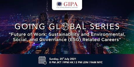 Future of Work: Sustainability and ESG Related Careers tickets