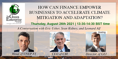 Sustainable Finance for a Carbon-Neutral World | Green Enterprise Talks  #1 tickets