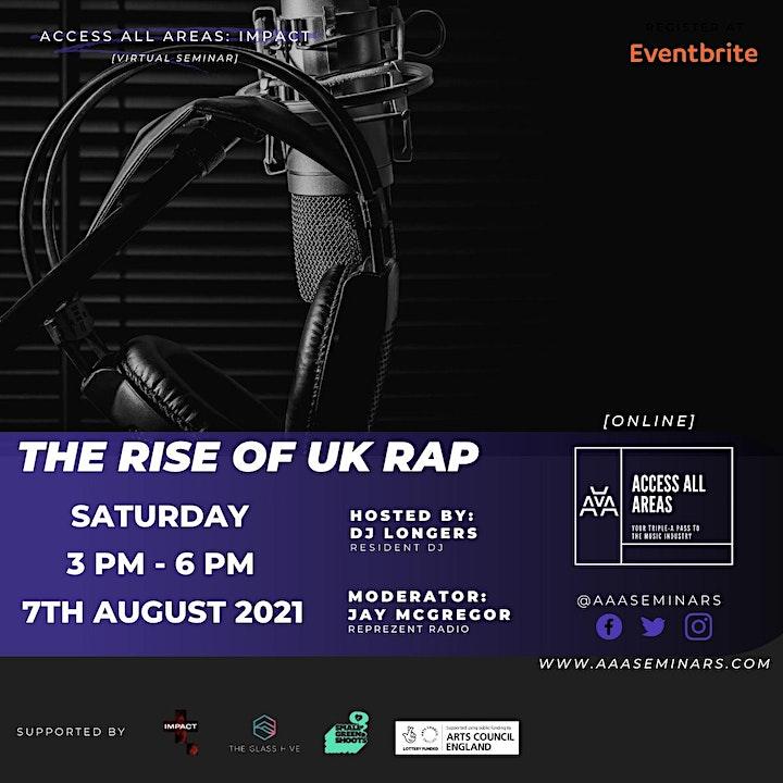 "Access All Areas: Impact ""The Rise Of UK Rap"" Webinar image"