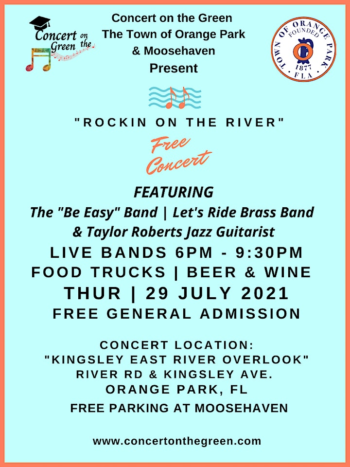 """""""Rockin on the River"""" July 29th Tickets image"""