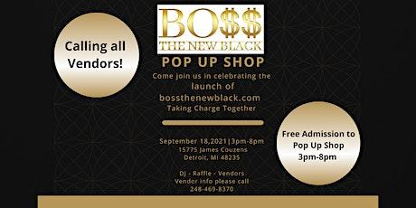 Boss The New Black Pop Up Shop tickets