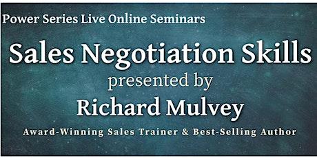 Sales Negotiation tickets