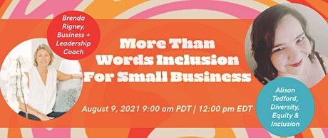 More Than Words Inclusion for Small Businesses tickets