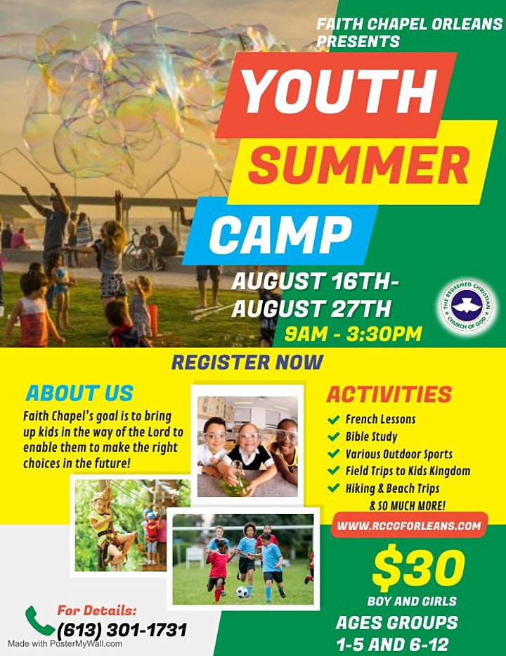 2021 Youth Summer Camp by Faith Chapel Orleans image