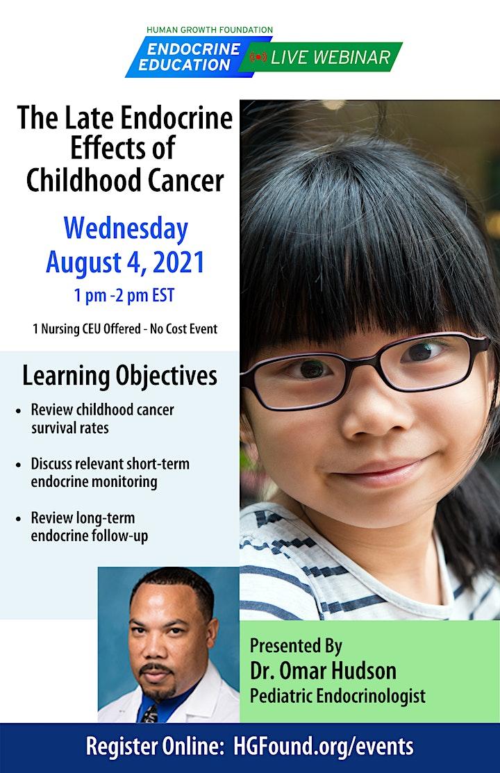 Late Endocrine Effects of Childhood Cancer - HGF Live Webinar image