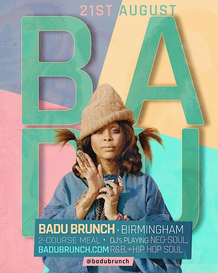 BADU Brunch (Birmingham)(Neo Soul + RnB Lounge) image