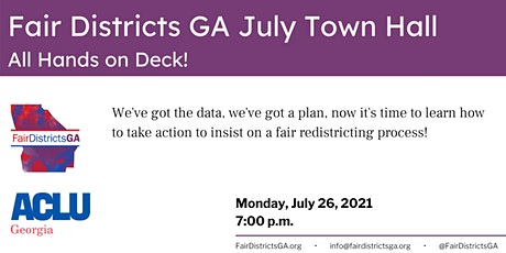 Fair Districts GA Town Hall:  All Hands on Deck! tickets