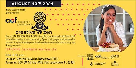 AAF CreativeZen Presents Carla Martins @ General Provision DT (In Person!) tickets