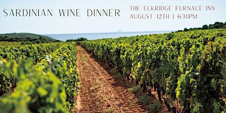 Sardinian Wine Dinner tickets