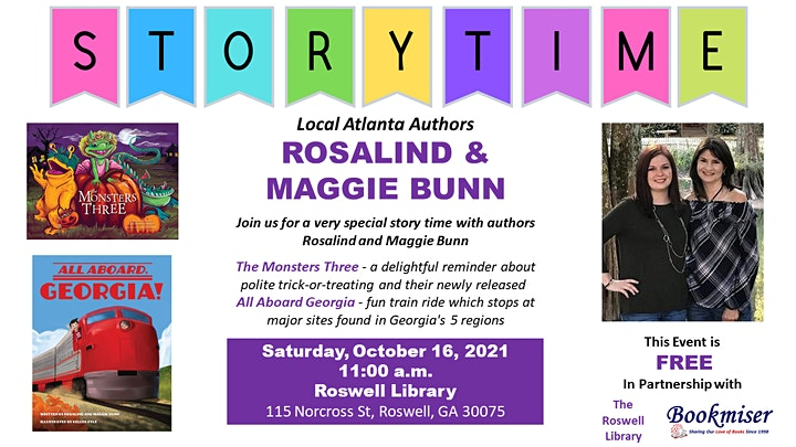 Story Time with Authors ROSALIND & MAGGIE BUNN image