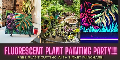 Fluorescent Plant Painting Party!