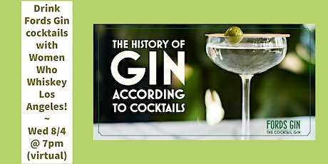 History of Gin According to Cocktails (Virtual) tickets