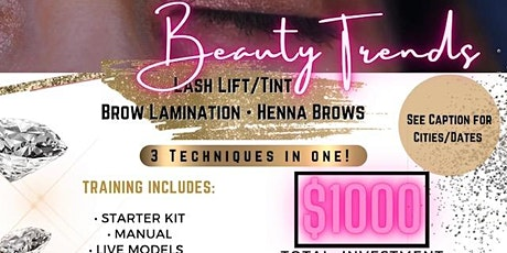 Beauty Trends: Lash Lift/Tint, Brow Lamination, Henna Brows (Charlotte, NC) tickets