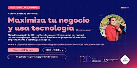 """""""CURSO DE VERANO MAXIMIZA Y USA TECNOLOGIA"""" SESION 6 CIERRE entradas"""