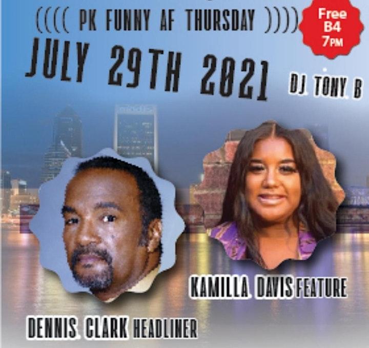 PK Funny AF Thursdays headliner Dennis Clark image
