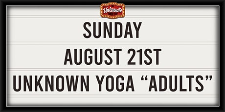 Unknown Yoga Adults: 80's Party tickets