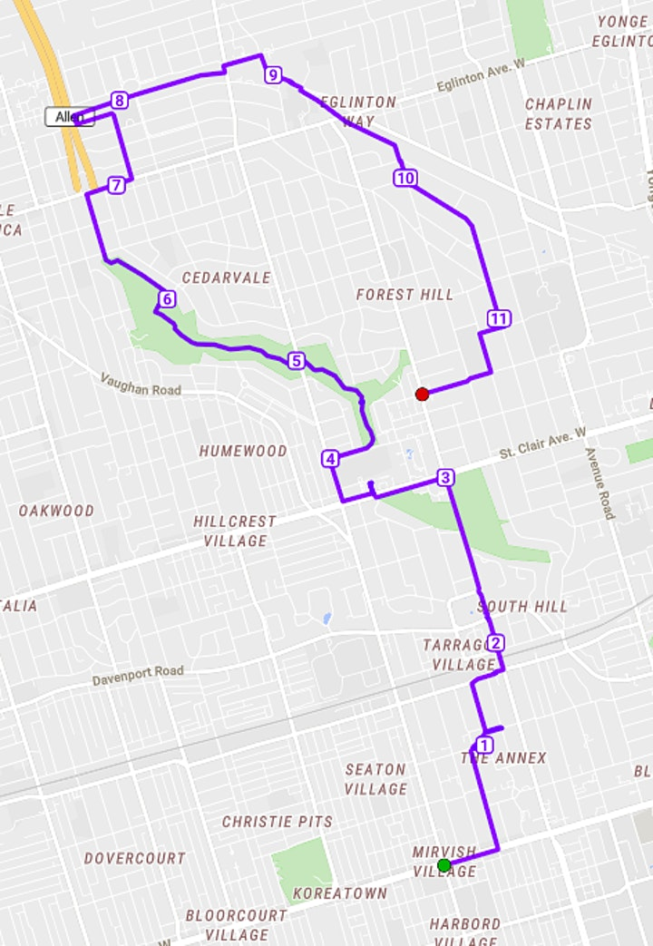 Central Toronto Tour (Annex + Casa Loma + Cedarvale Ravine+ Beltline Trail) image