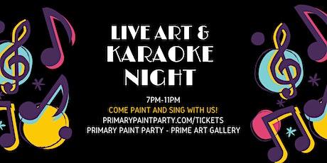 Karaoke Paint & Sip tickets