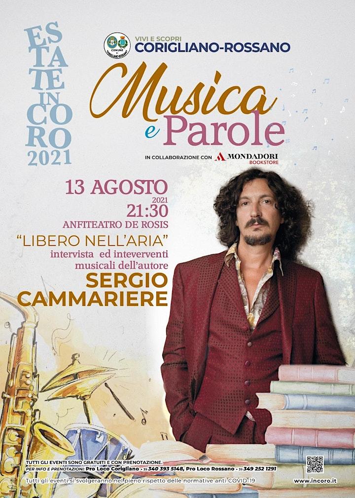 """Immagine MUSICHE E PAROLE - PRESENTAZIONE DI """"LIBERO NELL'ARIA"""" DI SERGIO CAMMERIERE"""