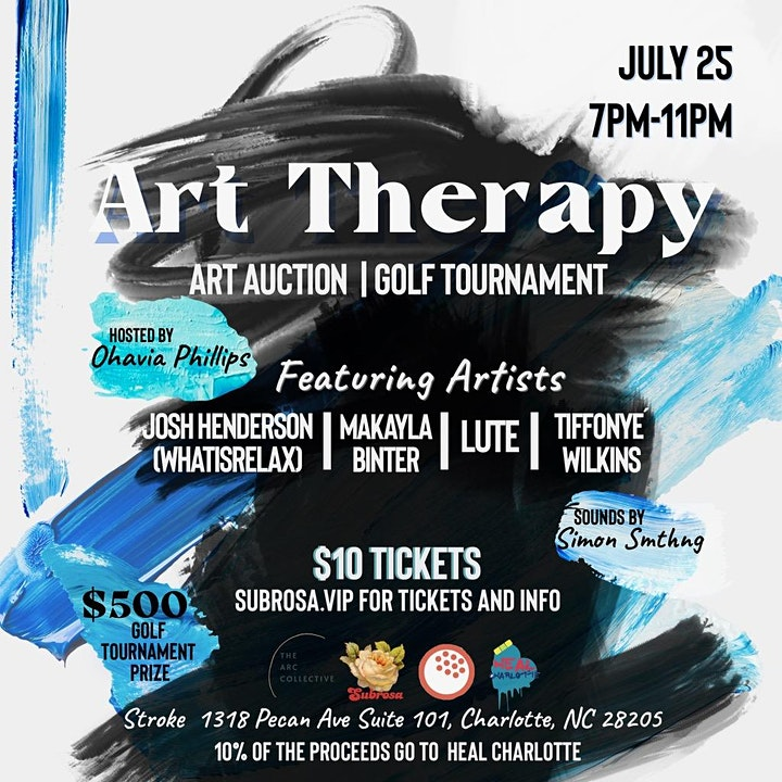 Art Therapy | Art Auction & Mini Golf Tournament | $500 GRAND PRIZE! image