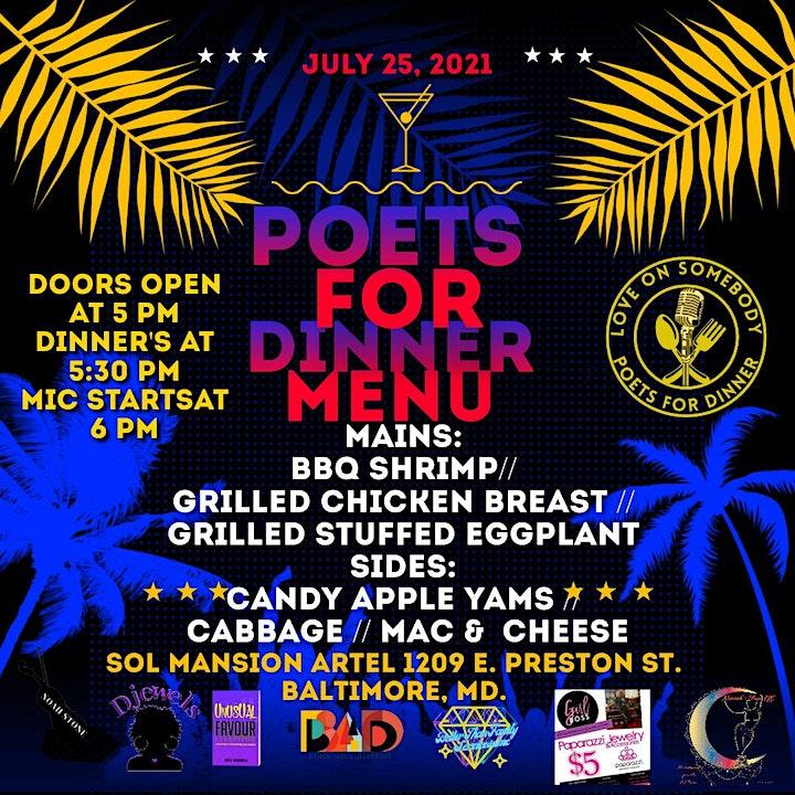 Poets For Dinner July's Joy image