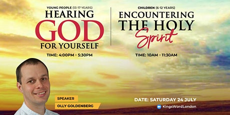 Hearing God for Yourself with Olly Goldenberg (Age 13-17) tickets