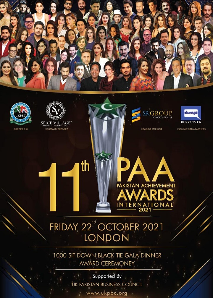 11th Pakistan Achievement Awards International 2021 image