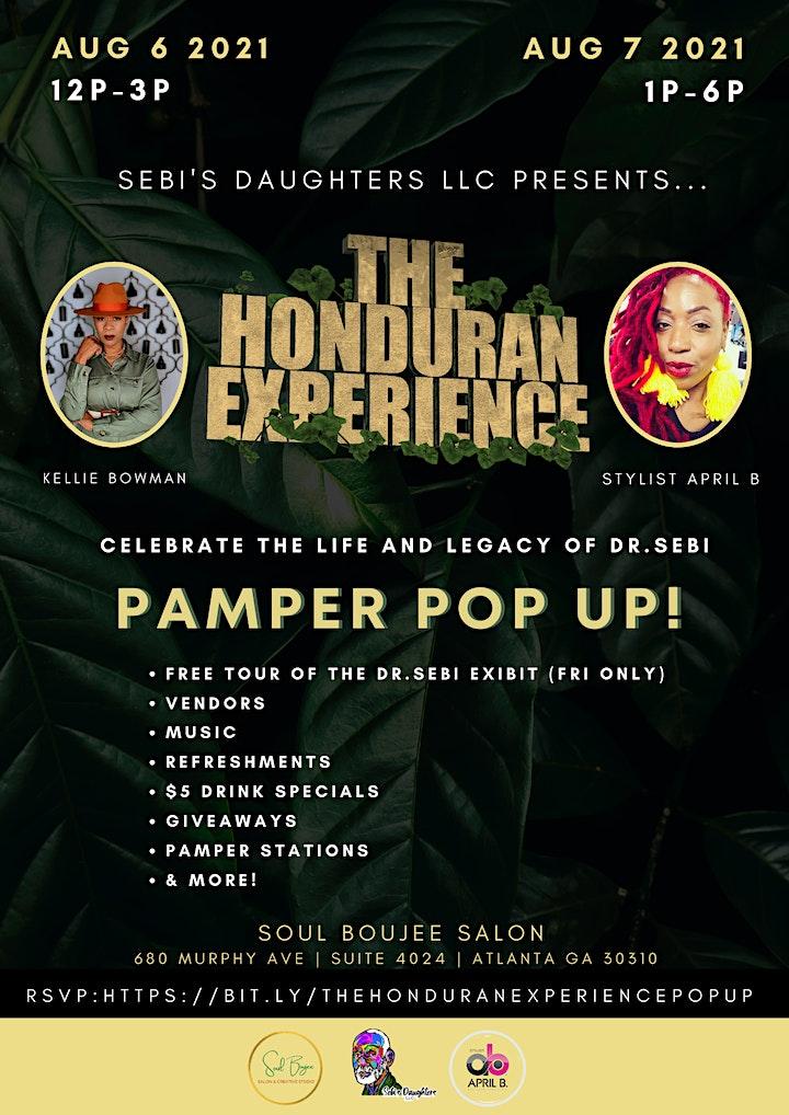 Sebi's daughters presents the Honduran Experience 2 day pamper pop up image