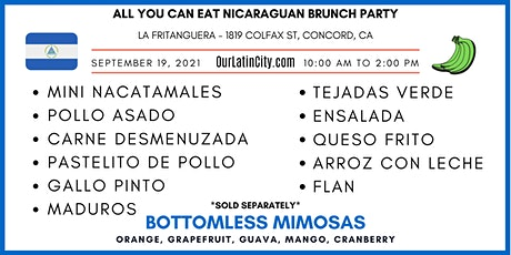 All You Can Eat Nicaraguan Brunch Party *OUTDOOR* tickets