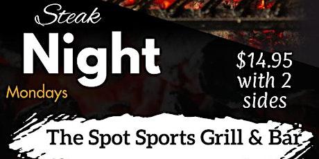 Steaknight Mondays tickets