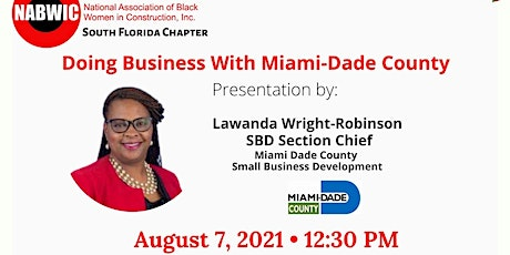 Doing Business With Miami-Dade County Small Business Development tickets