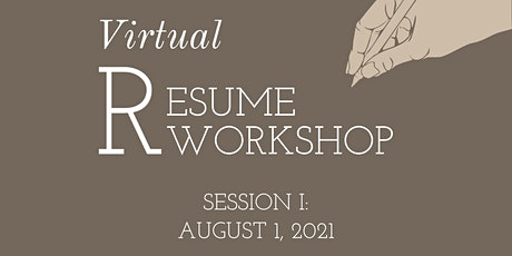 Resume Workshop: Session I tickets