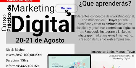 Marketing Digital para Emprendedores boletos