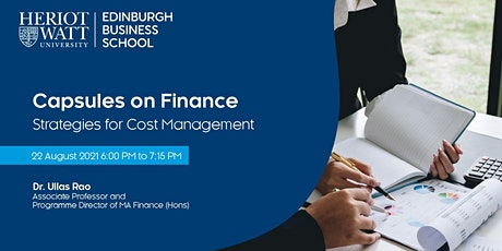 Capsules on Finance: Strategies for Cost Management tickets