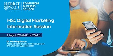MSc Digital Marketing Information Session - Edinburgh Business School tickets