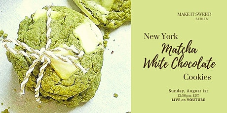 MATCHA WHITE CHOCOLATE COOKIES - Free Workshop on YouTube tickets