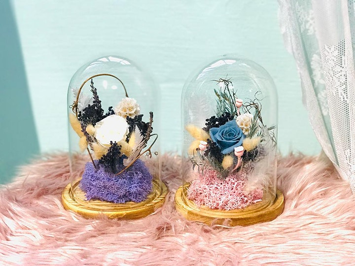 Learn to  Arrange Preserved Flowers in a Floral Dome! image