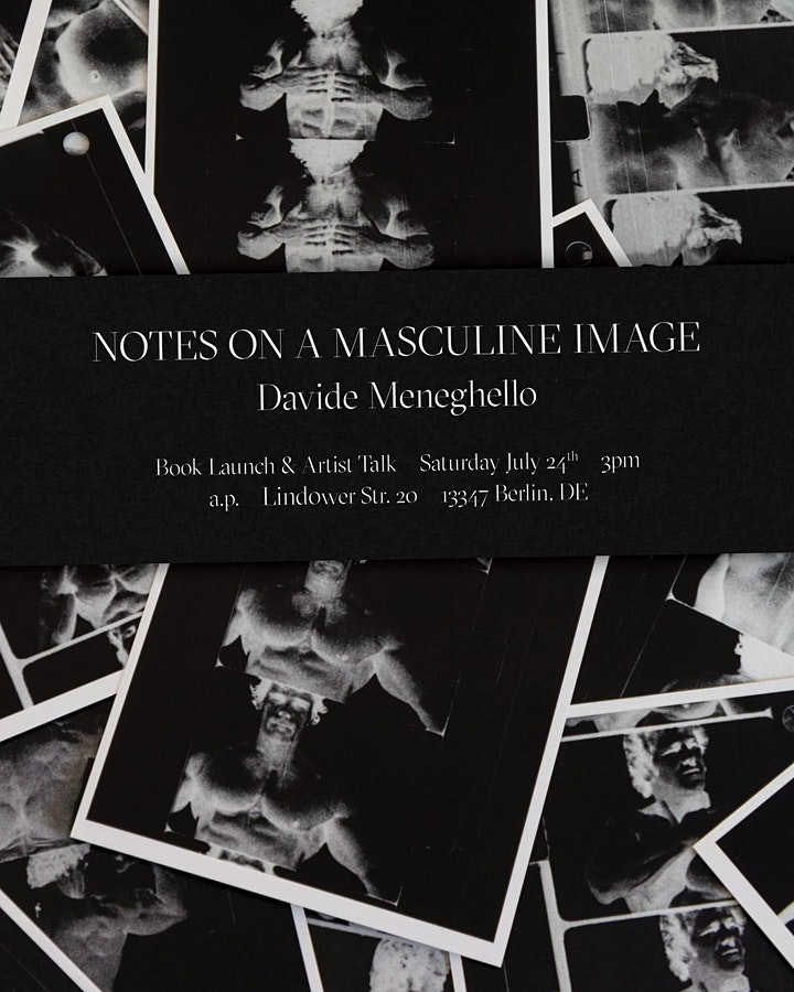 Notes on a Masculine Image Artist Talk and Book Launch w/ Davide Meneghello image