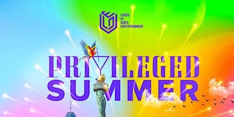 Privileged Summer 2021 tickets