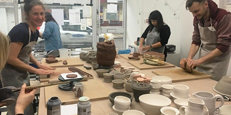 9 Week Introduction to Pottery Wednesday starts 27th October 2021 7-9.15pm tickets