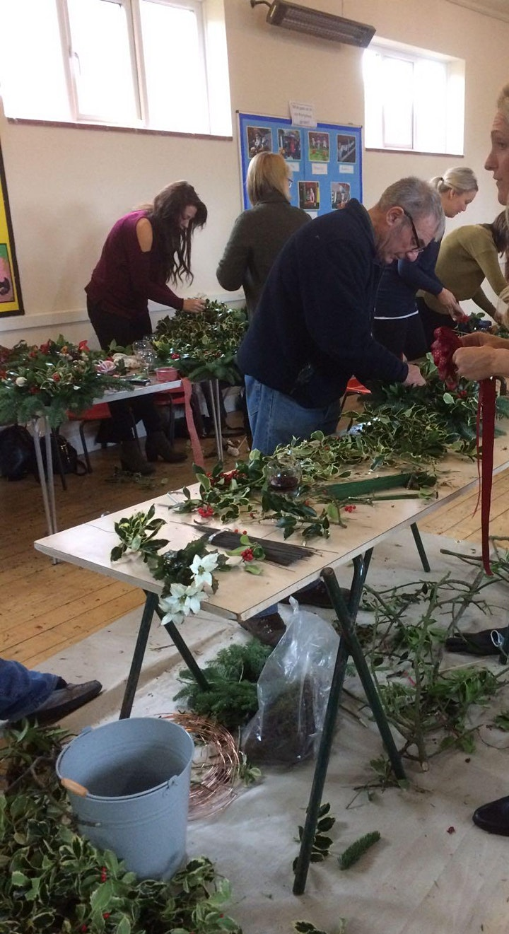 Christmas Holly Wreath Workshop at Ben Rhydding Scout Hut image