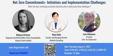 Net Zero Commitments- Initiatives and Implementation Challenges tickets