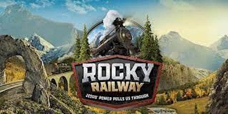 Vacation Bible School Rocky Railway tickets