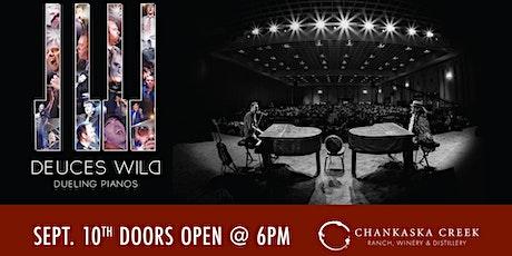 Deuces Wild Dueling Pianos at Chankaska Winery tickets