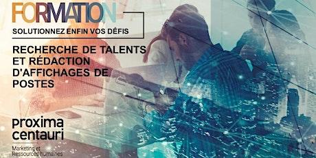 FORMATION : Recherche de talents et rédaction d'affichages de postes billets